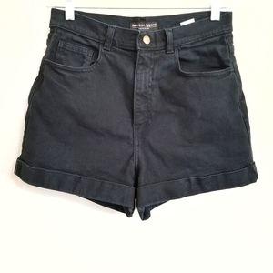 American Apparel Cuffed Mom Denim Shorts 30/31
